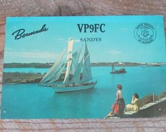 Vintage Bermuda Postcard QSL Cards