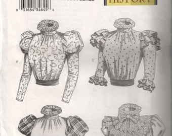 Womens Misses 19th Century Blouse Pattern B3417 Sizes 6-8-10