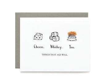 Age Well - letterpress card