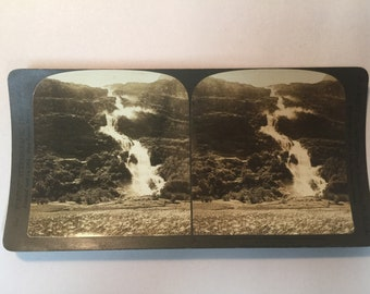 Antique Stereoview Card 1903 RUSTOEN near Olden on the Nord-Fjord # 10033