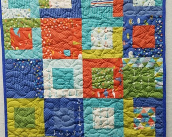 Anchors Away! baby quilt