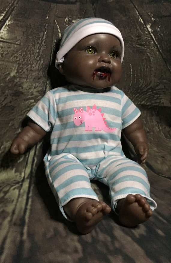 Vampire Berenguer Dressed For Bed Undead Just Fed Fanged Original Biohazard Baby