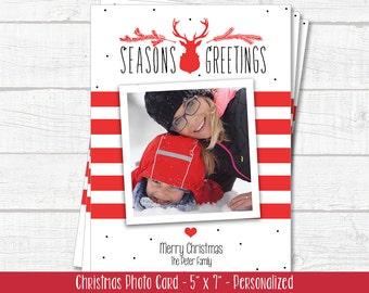 Christmas Cards - Christmas Greeting Cards - Christmas Photo Cards - Traditional Christmas Card - Holiday Greeting Cards - PRINTABLE