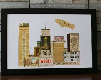 Akron Ohio Skyline
