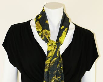 Silk Scarf,Hand Painted Silk Scarf, Wearable Art, Summer Scarf, Designer Scarf, Gift For Her, Fashion Scarf,Scarf,Digital Art,Art,Long Scarf