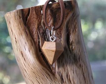 Diamond-shaped Maple pendant