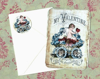 Valentine Cards - Love Greetings - Red Hearts