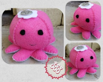 """Octopus Plushie Toy """"Tansy"""""""