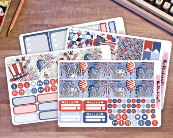 July Happy Planner Monthly Kit, Classic Happy Planner Monthly Kit, 4th of July Monthly Kit