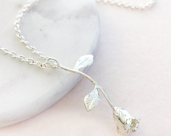 Rose Stem Necklace