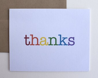Thank You Cards – Thanks – Thank You Note – Any Occasion Card – Rainbow Thank You – Rainbows – Graduation Thank You Cards