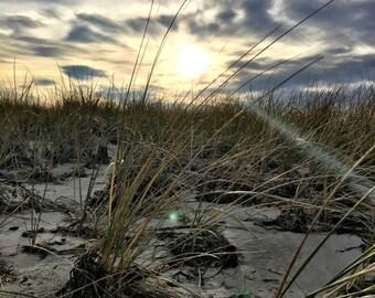 Sunset Dunes - Wells Beach, Maine - Photography