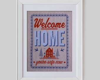 Welcome Home Cross Stitch Pattern (Digital Format - PDF)