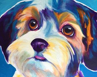 Yorkipoo, Yorkie Poo, Pet Portrait, DawgArt, Dog Art, Pet Portrait Artist, Colorful Pet Portrait, Yorkipoo Art, Pet Portrait Painting