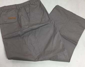 HABAND Pants Size W50 L28 Mens Casual Joe Comfort Elastic Waist Style 075 Gray VINTAGE New NWT A7108