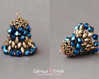 Beaded Bell Tutorial - PDF Beading Pattern - Beading Tutorial - Christmas or Easter Decorations