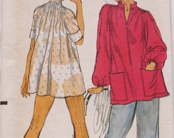 Vogue 9223 /Top /Tunic / Smock Sewing Pattern /Bust 32/ 1970s /Very Easy Vogue