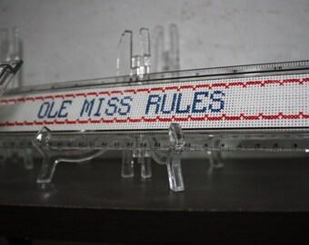 College or high school team colors ruler, cross stitch ruler, college colors, mascots, collegiate ruler, high school ruler