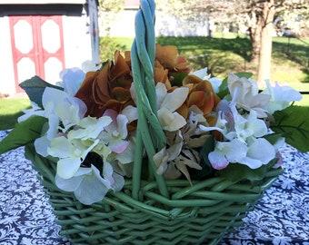 Floral Arrangement in Green Basket