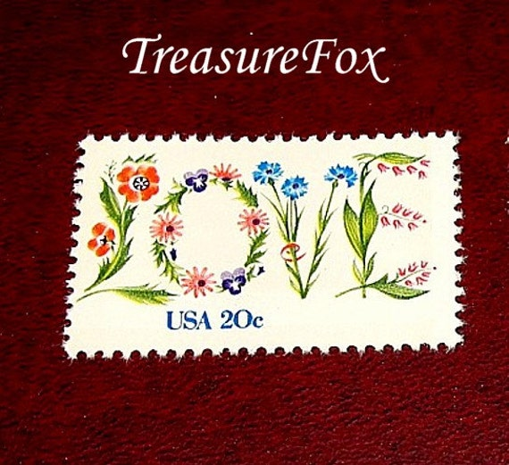 20c Floral Love Stamp Set Of 50 Unused Vintage Postage
