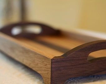 Serving Tray, Wood Tray with Handles