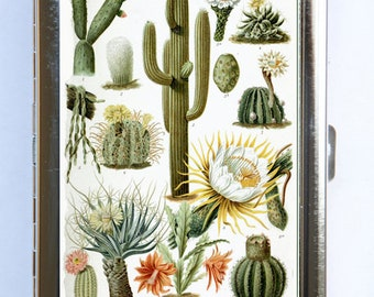 Various Cactus Cigarette Case Wallet Business Card Holder