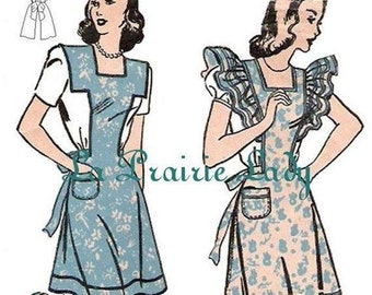 Repro Vintage Full Apron Pattern No 31  Repro 40s on PDF Available in Size S - M - L - X-L