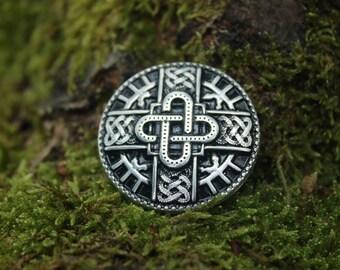 Bow merovingien, silver finish, decorative rivet