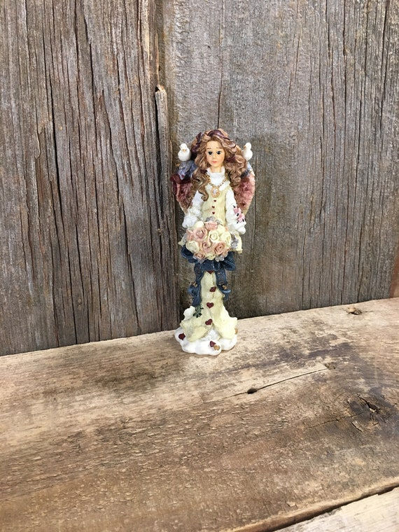 1995 Boyds Bears and Friends Folkstone Collection, The Wedding Angel, Athena wedding angel figurine, come live with me and be my love