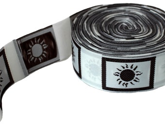 Roll of Sun Emblem Tags Woven DIY Handcraft Projects Approx 300 Pieces