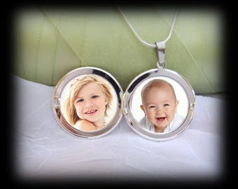 Photo Locket Necklace - pictures under glass