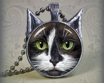 TUX13 Tuxedo Cat pendant