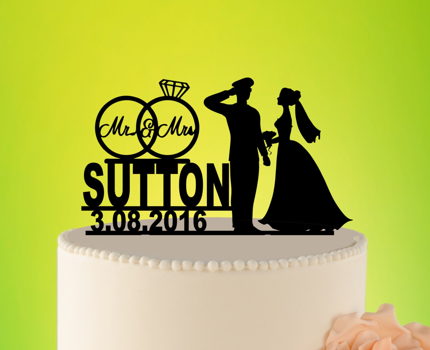 Military Wedding Cake Topper Wedding Cake topper Custom