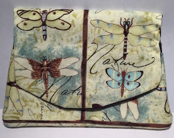Dragonfly Cotton Card Wallet. Free Shipping