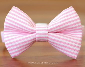 Mini Stripe Cat Bow Tie Collar