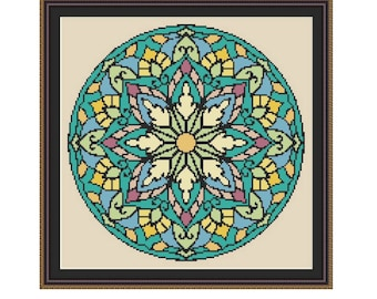 "Cross stitch pattern ""Mandala"",Instant download PDF"