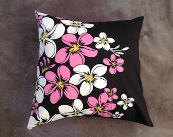 Plumeria Throw pillow cover