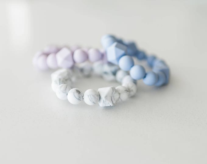 Freezer Teether (made from nontoxic, baby-friendly silicone beads)