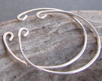 Non pierced hoop earrings sterling silver