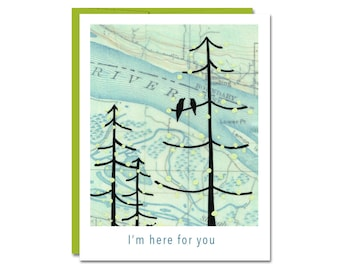 I'm Here For You Card // Greeting Card // Sympathy Card // Love Card // Rachel Austin Art Card