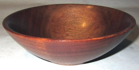 """Small Walnut Wood Turned Bowl """"Midnight Dawn"""" – 4-03"""