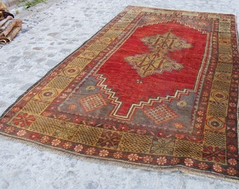 TurkisH Oriental rug , turkish oushak rug , home runner turkish decorative rug, 583
