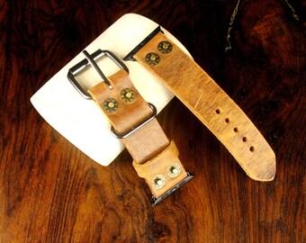 Apple Watch Strap,Apple 42 mm, Ready to ship ,Handmade strap
