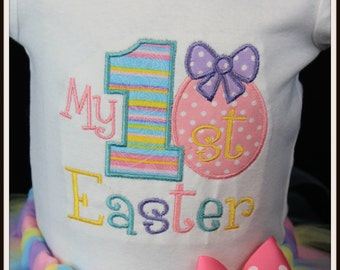 My First 1st Easter Egg pastels bodysuit personalized with name all sizes newborn 0-3 months 3-6 months 6 months 9 months