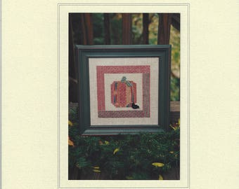 """Clearance - """"Pumpkin Square"""" Counted Cross Stitch Chart by Sekas & Co."""