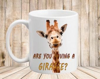 giraffe selfie mug, giraffe mug, giraffe gift, mothers day gift, april the giraffe, giraffe gift, slang, funny gift, joke gift, office gift,
