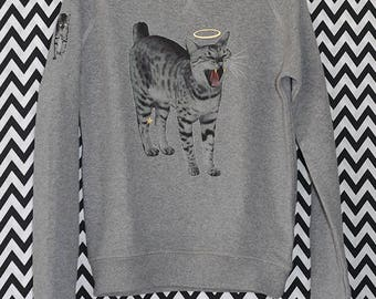 Sweatshirt cat Cat XXS-XXL Organic Fair Trade