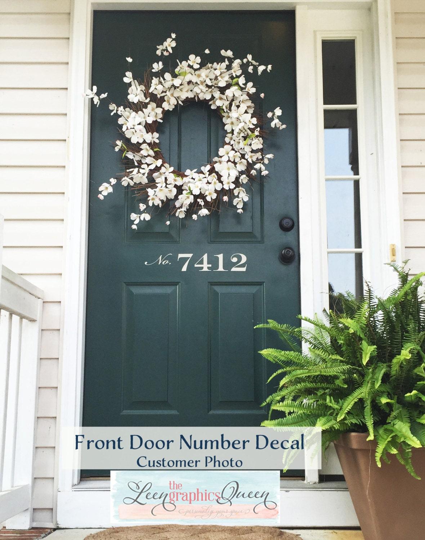Front Door Number Decal Street Number For Front Door Adds