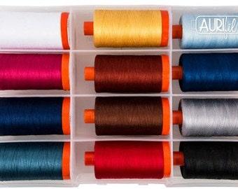 Mary Fons SMALL WONDERS Aurifil Thread - 50 wt Lg Spools 100% Egyptian Cotton