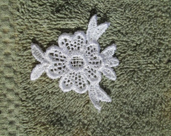 White Flower Applique